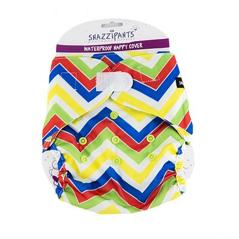Snazzipants Reusable Nappy Pull Cover - Multi Chevron image