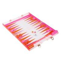 Sunnylife Backgammon - Orange & Pink