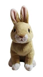 """Cuddly Critters: Yellow Rabbit - 6"""" Sitting Plush"""