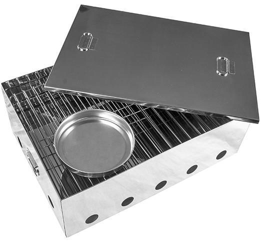Kiwi Sizzler Two tray Portable Stainless Steel Smoker image