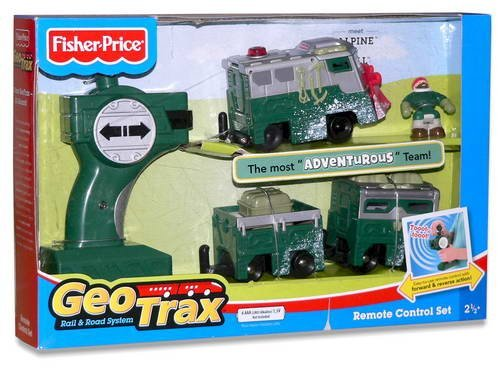Fisher Price GeoTrax Rail and Road R/C Set - Alpine & Will image