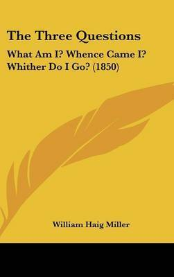 The Three Questions: What Am I? Whence Came I? Whither Do I Go? (1850) by William Haig Miller