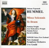Hummel: Missa Solemnis / Te Deum by Johann Nepomuk Hummel