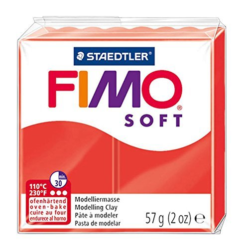 Staedtler Fimo Soft Modelling Clay Block - Indian Red (56g)