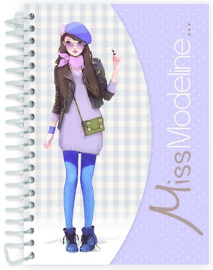 Miss Modeline A6 Notepad and Design Book - Maya image