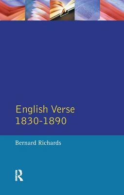 English Verse 1830 - 1890 by Bernard Richards image