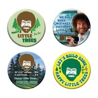 Bob Ross - Button 4-Pack (Assorted Designs)