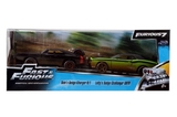 Jada FF Twin Pack: Dom's Dodge Charger & Letty's Dodge Challenger 1:32 Diecast Models