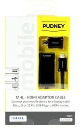 Pudney: MHL 2.0 HDTV Hdmi Adaptor Cable - Black