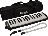 Stagg Melostar reed keyboard 32 keys w/ tube and bag (Black)