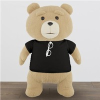 TED2: Premium XL Plush - Black T -
