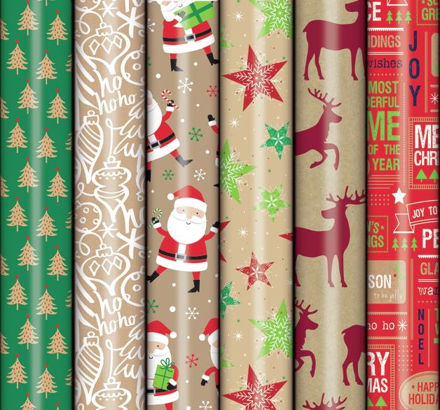 Patelena House: Christmas Roll Wrap - Printed Kraft 2M (Assorted Designs)