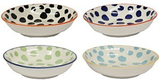 Assorted Colour Dotty Village Kiln Ceramic Dipping Dishes (Set of 4)