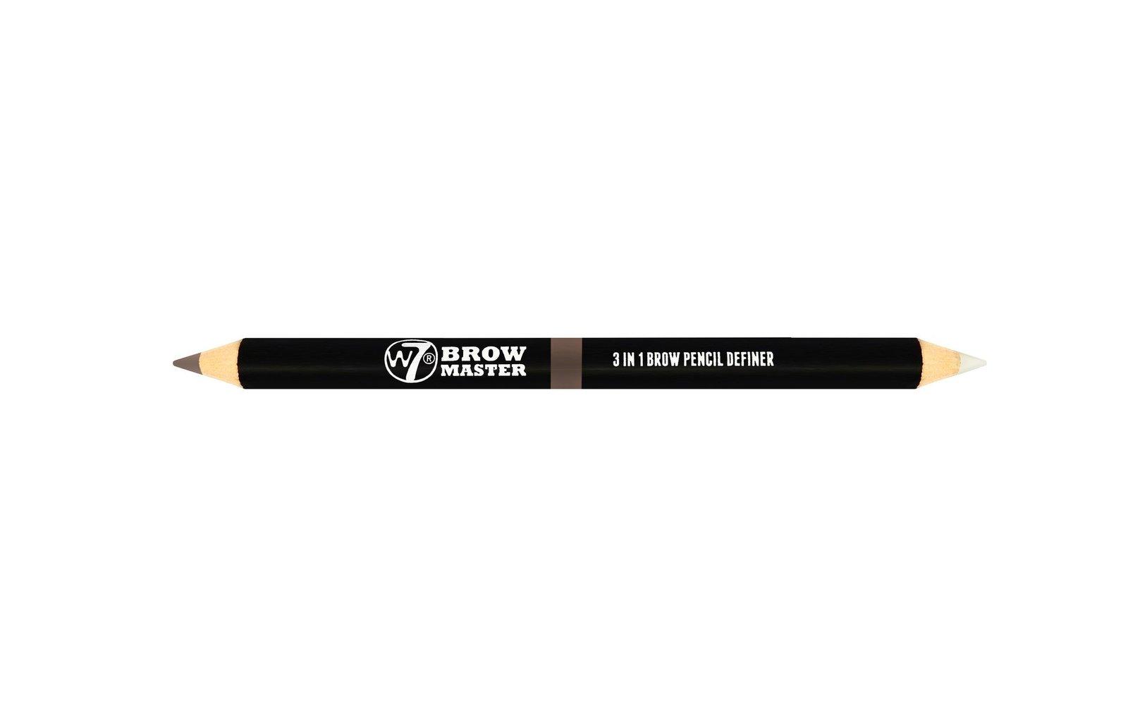 W7 Brow Master 3 in 1 Brow Pencil Definer (Blonde) image
