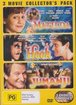 Matilda (1996) / Hook / Jumanji - 3 Movie Collector's Pack (3 Disc Set) on DVD