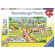 Ravensburger : A Day at the Zoo Puzzle 2x24pc