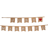 Just Married Jute Bunting