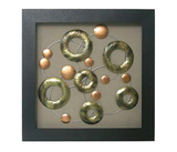 Copper Wall Art - Circle Squares