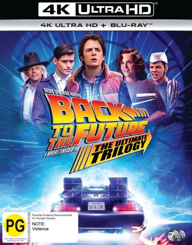 Back To The Future Remastered Trilogy Box Set (4K UHD + Blu-Ray) on UHD Blu-ray
