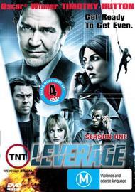 Leverage - Season 1 (4 Disc Set) on DVD image