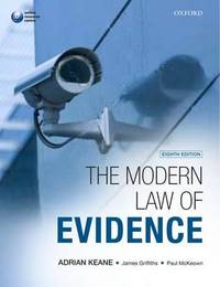 The Modern Law of Evidence by Adrian Keane image