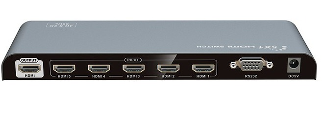 8Ware: 5 Port HDMI Switch with Remote - Support 4Kx2K @ 60Hz