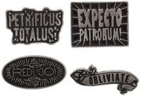 Harry Potter Spell Pin Set (4 Pack)