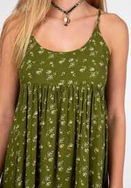 Natural Life: Gigi Dress - Olive Cream Calico (Medium) image