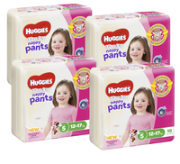 Huggies Ultra Dry Nappy Pants Convenience Shipper - Walker Girl 12-17 kg (72)
