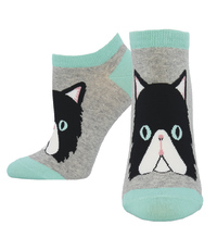 Women's Perrfectly Persian Ankle Socks - Heather Gray