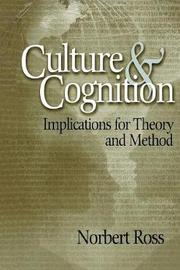 Culture and Cognition by Norbert Otto Ross