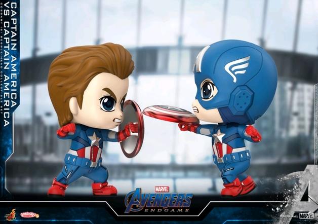 Avengers: Endgame - Captain America vs Captain America Cosbaby Figure Set