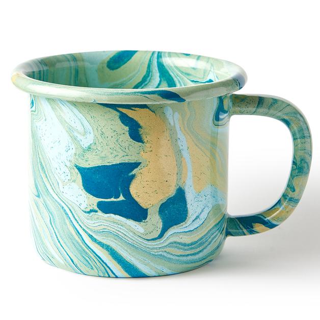 Bornn: Enamel Marble Mug - Mint