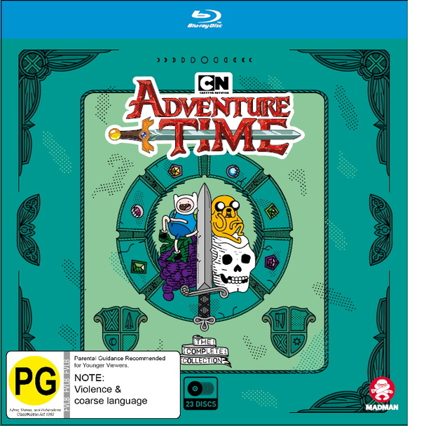 Adventure Time Complete Collection 1 - 10 Boxset on Blu-ray