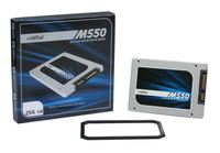 "256GB M550 Crucial 2.5"" SSD 550MB Read/500MB Write"