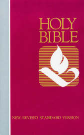 NRSV, Pew Bible, Hardcover, Red by Zondervan image