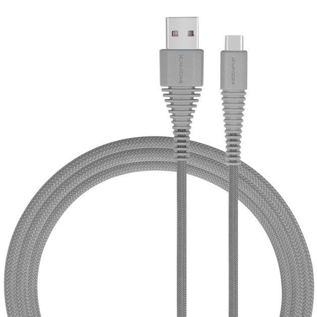 Momax TOUGH Link Charge/Sync USB Type-C to Type-A Cable - Grey (1.2m)