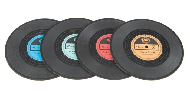 Funtime: Vinyl Coaster Set - (4-Pack)