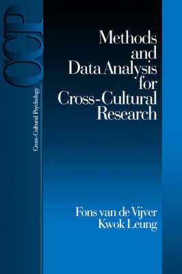 Methods and Data Analysis for Cross-Cultural Research by Fons J.R.van de Vijver