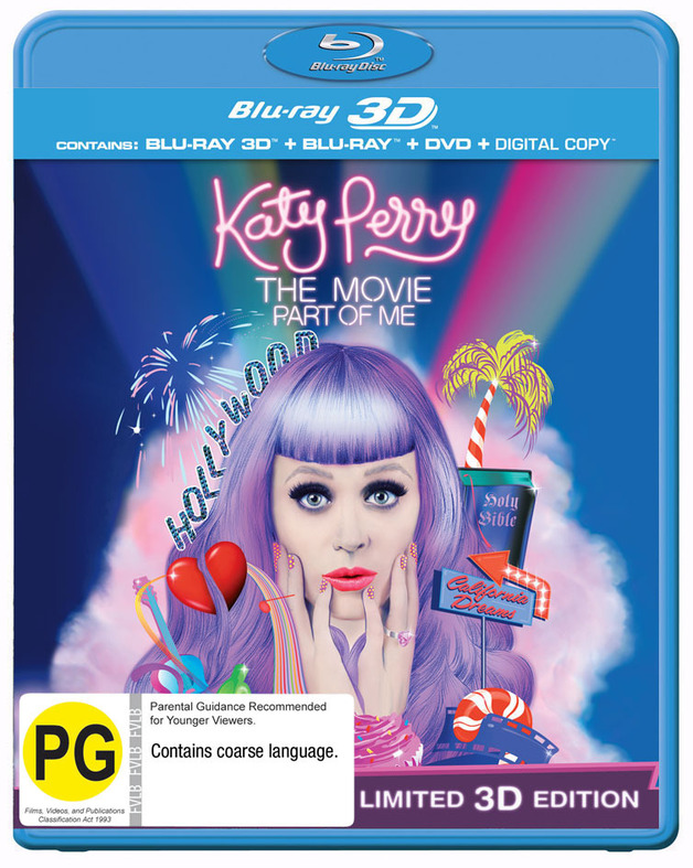 Katy Perry: Part of Me - 3D Superset on DVD, Blu-ray, 3D Blu-ray, DC
