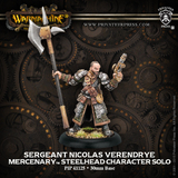 Warmachine: Mercenaries - Sergeant Nicolas Verendry Steelhead