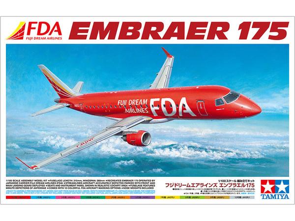 Tamiya 1/100 Fuji Dream Airlines Embraer 175 - Model Kit image