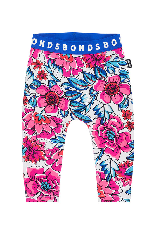 Bonds Stretchy Leggings - Freestyle Blooms (0-3 Months)