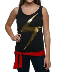 Ms. Marvel Tie Waist Racerback Tank Top (Small)