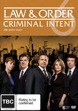 Law And Order: Criminal Intent - The Sixth Year (6 Disc Set) DVD