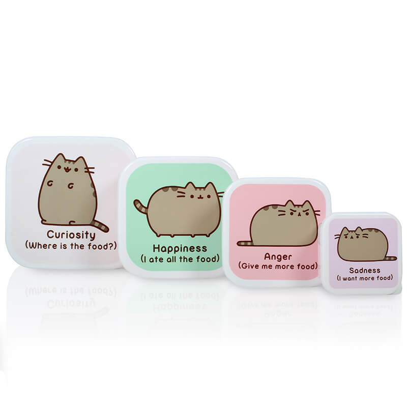 Pusheen the Cat Snack Box set of 4 image