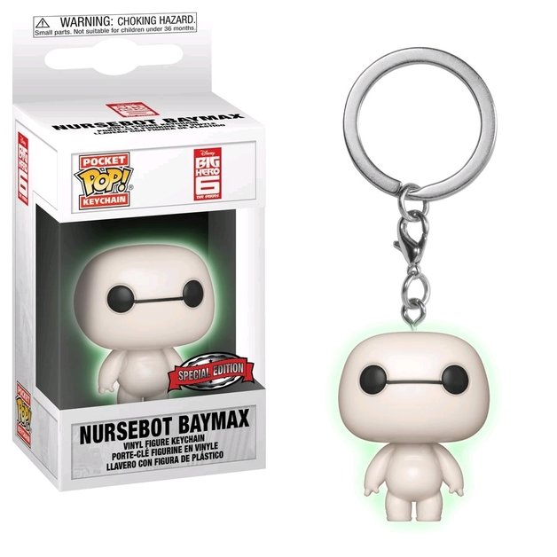 Big Hero 6 - Nursebot Baymax Glow Pocket Pop! Keychain