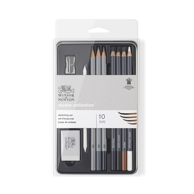Winsor & Newton: Sketching Pencil Tin - 10 Piece