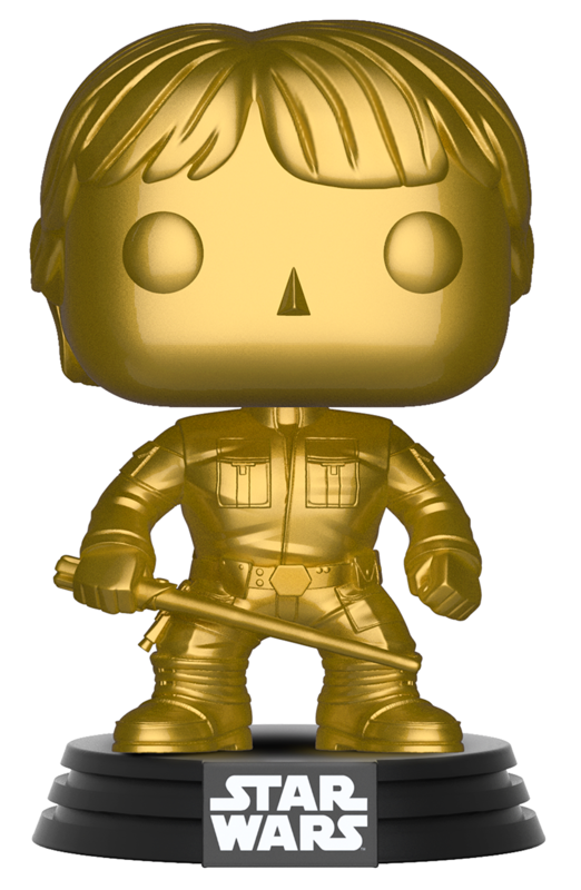 Star Wars - Luke Skywalker (Gold Chrome) Pop! Vinyl Figure
