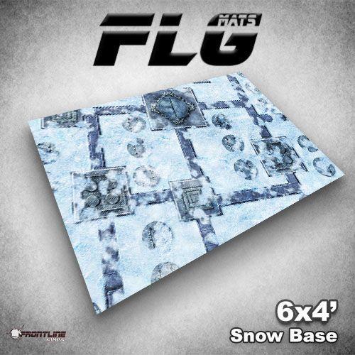 FLG Snow Base Neoprene Gaming Mat (6x4)